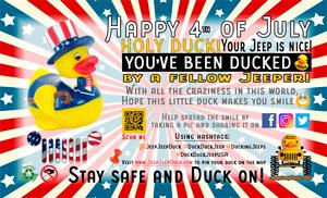USA 4th July free DuckDuckJeep tag
