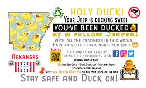 Arkansas free DuckDuckJeep tag