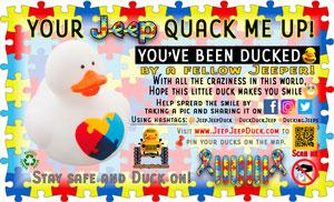 Free Autism Awareness DuckDuckJeep Tag
