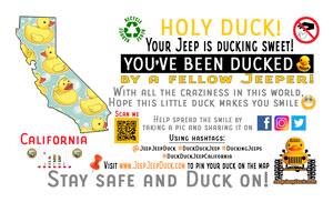 California free DuckDuckJeep tag