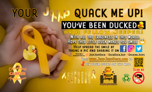 Childhood Cancer Awareness Free DuckDuckJeep Tag