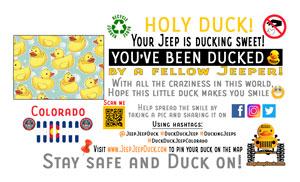 Colorado free DuckDuckJeep tag