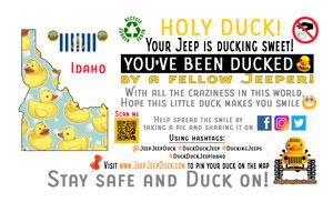 Idaho free DuckDuckJeep tag