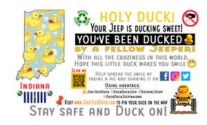 Indiana Free DuckDuckJeep Tag