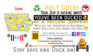 Iowa Free DuckDuckJeep Tag
