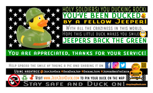 Free Jeepers Back The Green DuckDuckJeep Tag