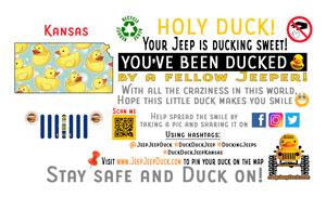 Kansas Free DuckDuckJeep Tag