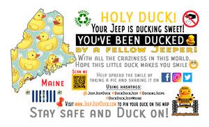 Maine Free DuckDuckJeep Tag