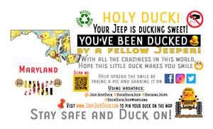 Maryland Free DuckDuckJeep Tag