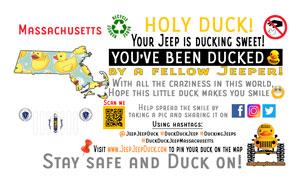 Massachusetts Free DuckDuckJeep Tag
