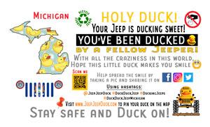 Michigan free DuckDuckJeep tag