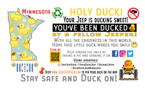Minnesota free DuckDuckJeep tag
