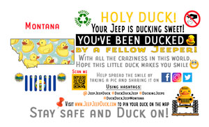 Montana free DuckDuckJeep tag
