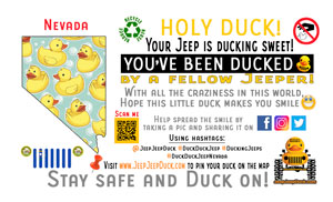 Nevada free DuckDuckJeep tag