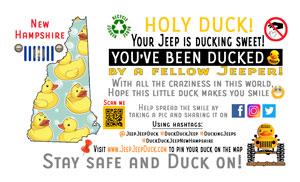 New Hampshire free DuckDuckJeep tag