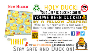 New Mexico free DuckDuckJeep tag