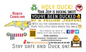 North Carolina free DuckDuckJeep tag