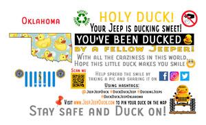 Oklahoma Free DuckDuckJeep Tag
