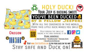 Oregon Free DuckDuckJeep Tag