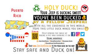 Puerto Rico Free DuckDuckJeep Tag