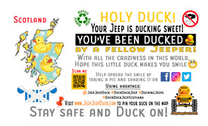 Free DuckDuckJeep Scotland Tag
