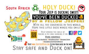 Free DuckDuckJeep South Africa Tag