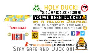 Tennessee Free DuckDuckJeep Tag