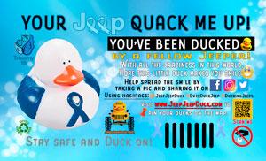 Free Trisomy 18 Awareness DuckDuckJeep Tag