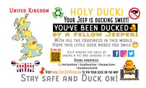 Free DuckDuckJeep United Kingdom Tag