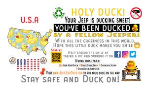 Free DuckDuckJeep USA Tag