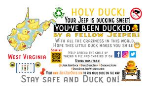 West Virginia Free DuckDuckJeep Tag