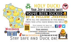 Wisconsin Free DuckDuckJeep Tag