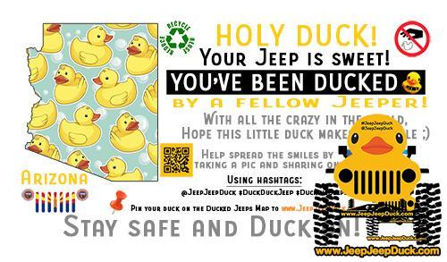 Arizona free DuckDuckJeep tag