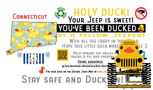 Connecticut free DuckDuckJeep tag