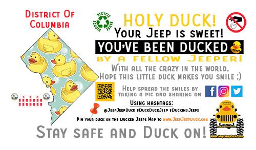 District Of Columbia free DuckDuckJeep tag