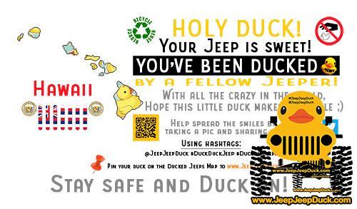Hawaii Free DuckDuckJeep Tag