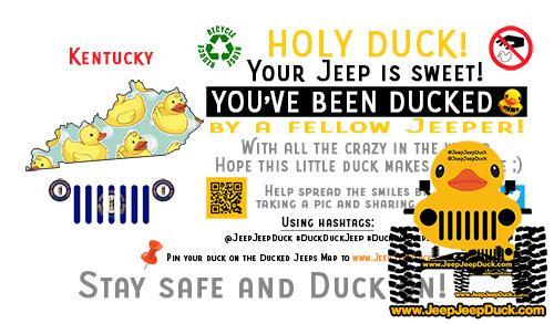 Kentucky Free DuckDuckJeep Tag