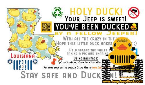 Louisiana Free DuckDuckJeep Tag