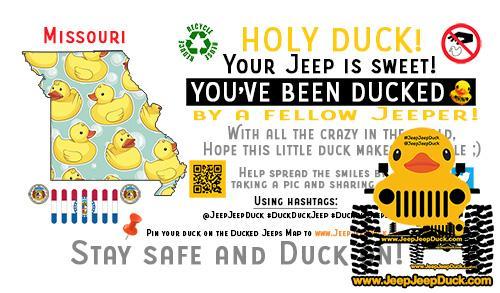 Missouri Free DuckDuckJeep Tag