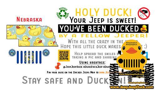 Nebraska free DuckDuckJeep tag