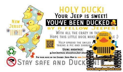 New Jersey free DuckDuckJeep tag