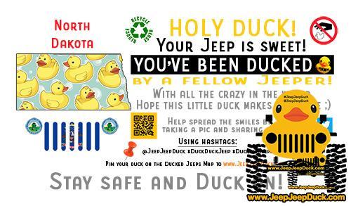 North Dakota Free DuckDuckJeep Tag