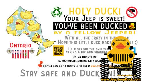 Ontario Free DuckDuckJeep Tag