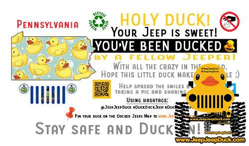 Pennsylvania Free DuckDuckJeep Tag