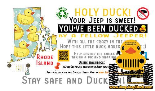Rhode Island Free DuckDuckJeep Tag