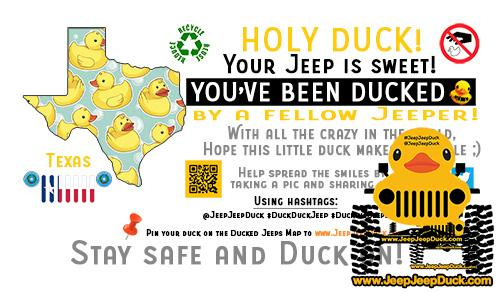 Texas Free DuckDuckJeep Tag