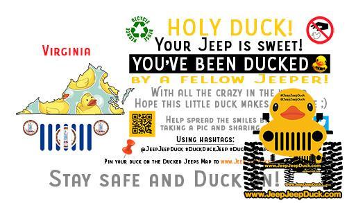 Virginia Free DuckDuckJeep Tag