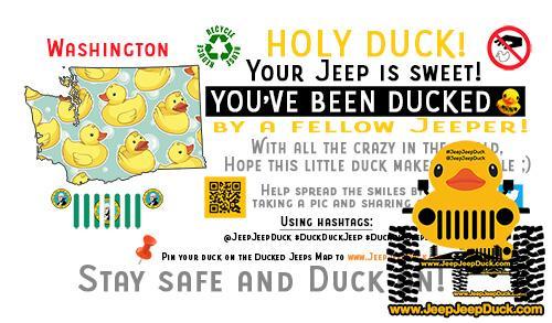 Washington Free DuckDuckJeep Tag
