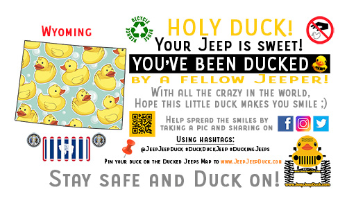 Wyoming Free DuckDuckJeep Tag