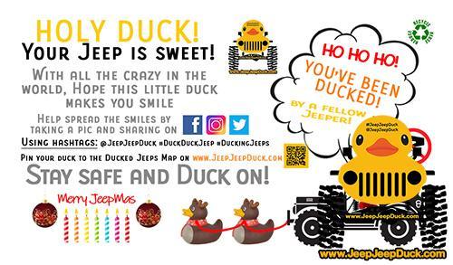 Christmas Free DuckDuckJeep Tag
